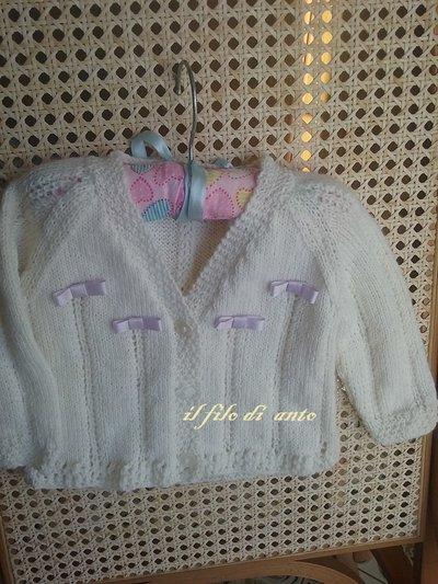 Cardigan  / maglia / golfino bimba in lana