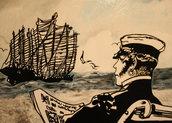 Veliero Corto Maltese - Quadro fatto a mano