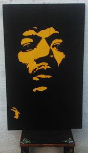 Jimi Hendrix face - Quadro fatto a mano