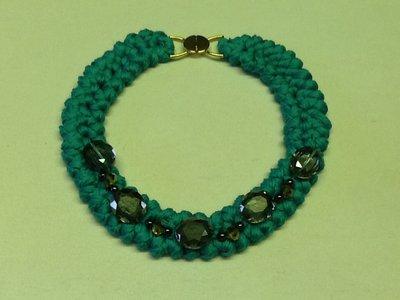 Collana fettuccia verde