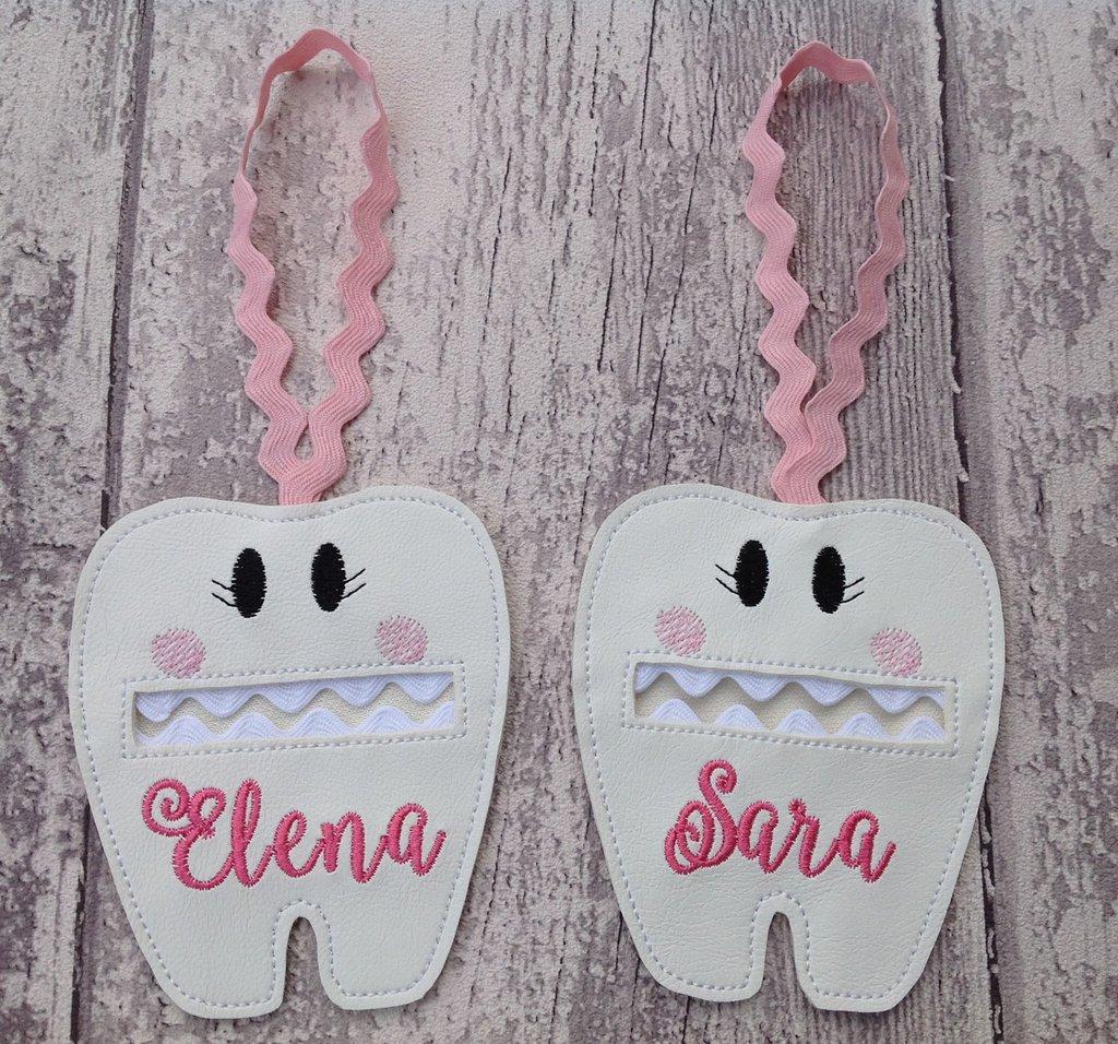 Fatina dei denti - borsettina personalizzata per dentini da latte