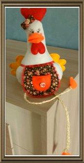 gallina decorativa per mensole camini