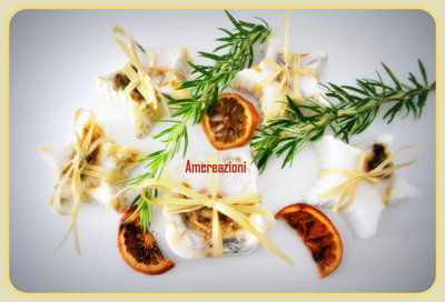 Saponette artigianali, aromatizzate con zenzero e rosmarino.