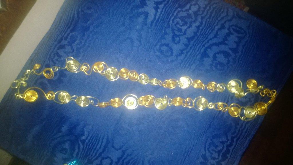 collana spiralina i alluminio