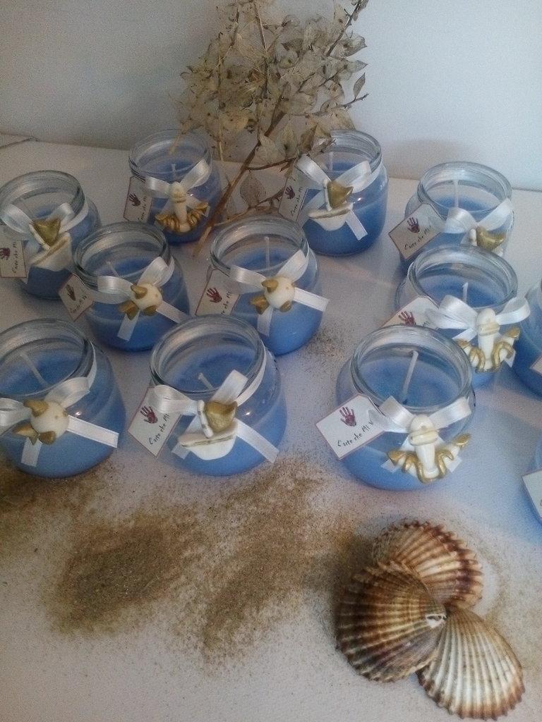 candeline bomboniere segnaposto comunione battesimo