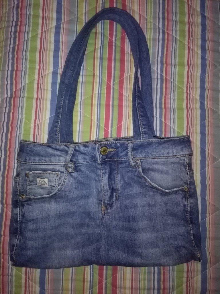 borsa jeans fatta a mano