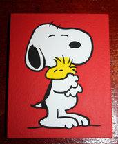 Snoopy Woodstock Abbraccio - Riproduzione a mano