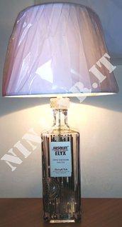 Lampada da tavolvo Bottiglia Vodka Absolut ELYX 3 Litri Vuota riuso riciclo creativo idea regalo arredo design