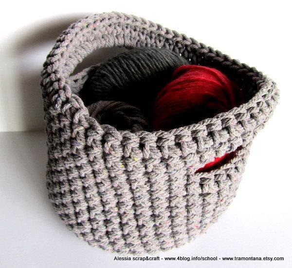 """Pattern - Spiegazione doppio uso per Portatutto o Borsetta """"clean & simple"""" a uncinetto crochet (idea regali di Natale)"""