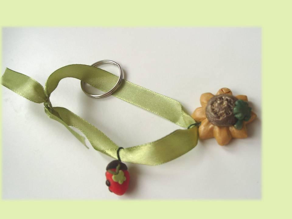 Portachiavi girasole coccinella