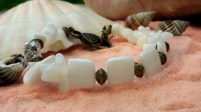 Bracciale madreperle semirigido mare conchiglie