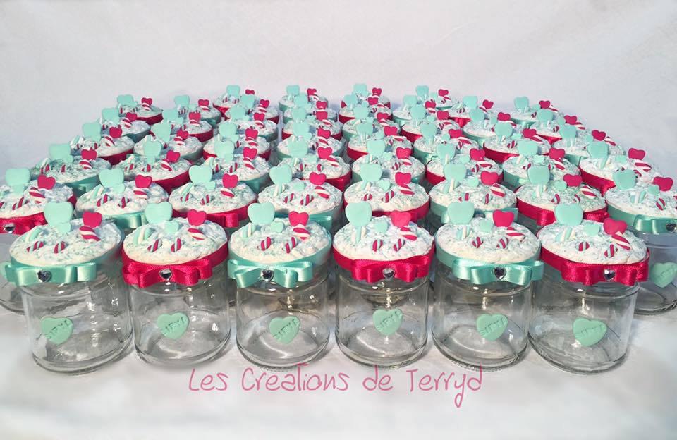 Bomboniere barattoli personalizzati con cuori e marshmallow