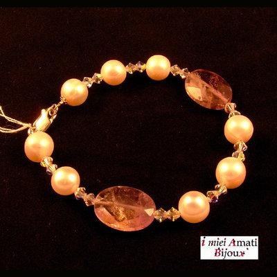 Bracciale perle coltivate ametrino