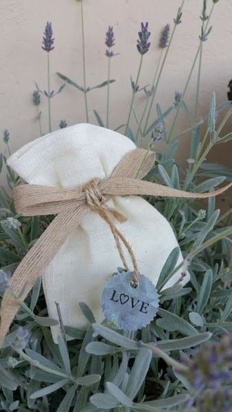 Portaconfetti stile country  tag zinco love