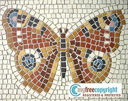 Disegno per mosaico farfalla libri schemi e corsi - Mosaico per esterno fai da te ...