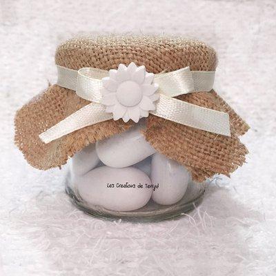 Bomboniera Barattolo con Iuta e gesso ceramico