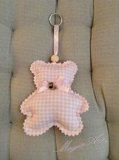 Portachiavi Teddy Bear rosa/Bomboniera/Idea regalo
