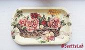 Svuotatasche/vassoio Cesto rose
