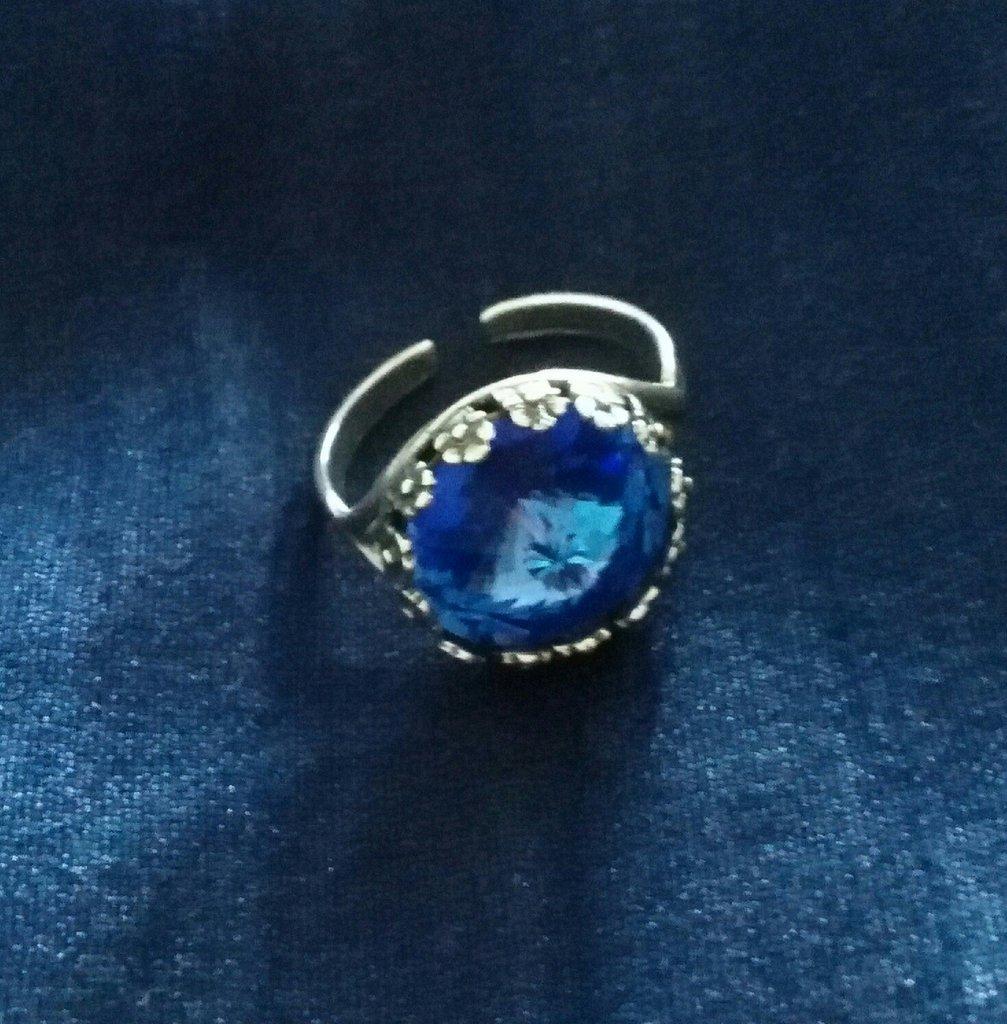 anello argento e Swarovski