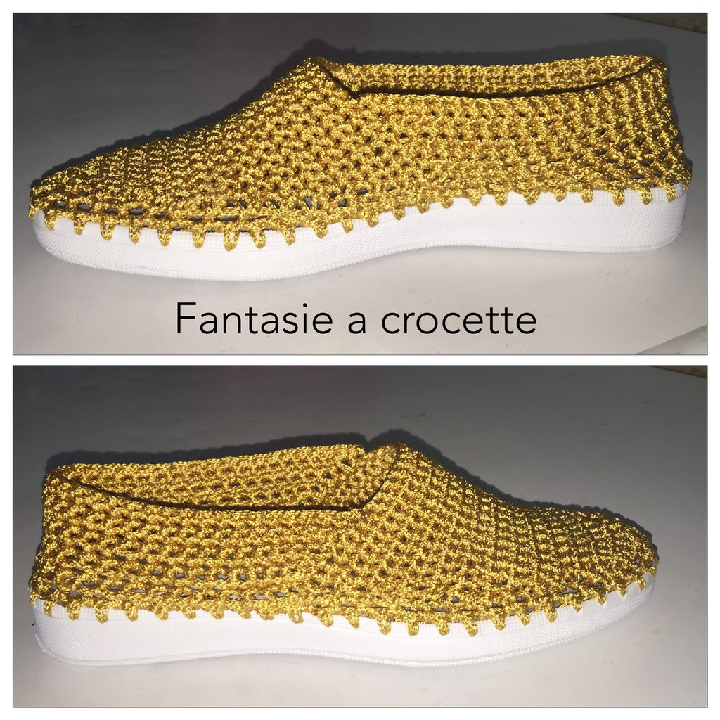 Scarpe snakers uncinetto