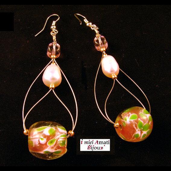 Orecchini perle coltivate e indiane