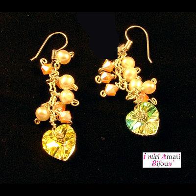 Orecchini swarovski e perle coltivate