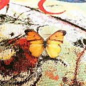 Anello con farfalla gialla/arancione