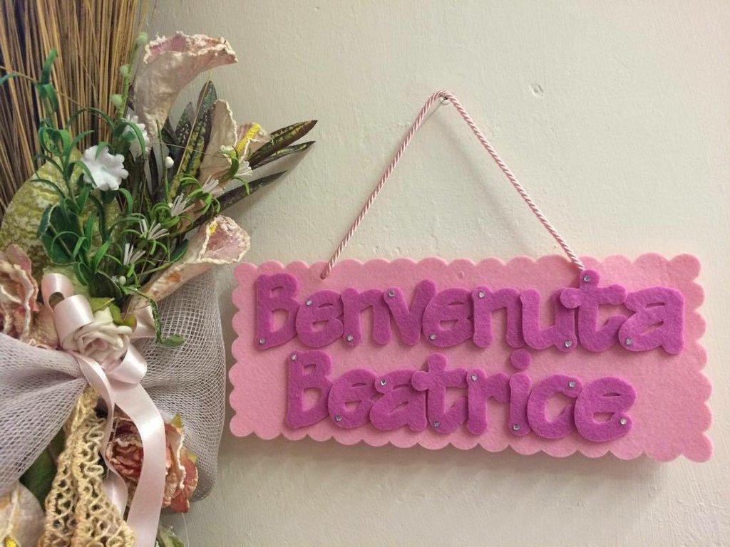 Targhetta feltro Beatrice