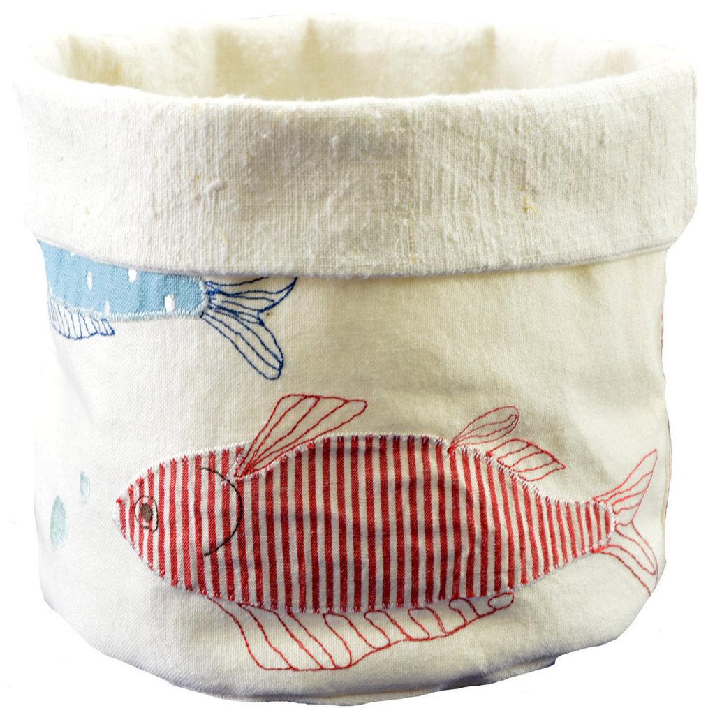 Sacchetto portapane con pesciolini