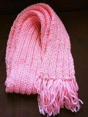 sciarpa rosa a righe