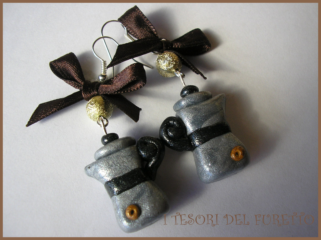 orecchini fimo cernit caffettiere moka idea regalo natale fufumoka