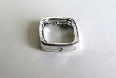 4 Connettori perle QUADRATO  CNT 38