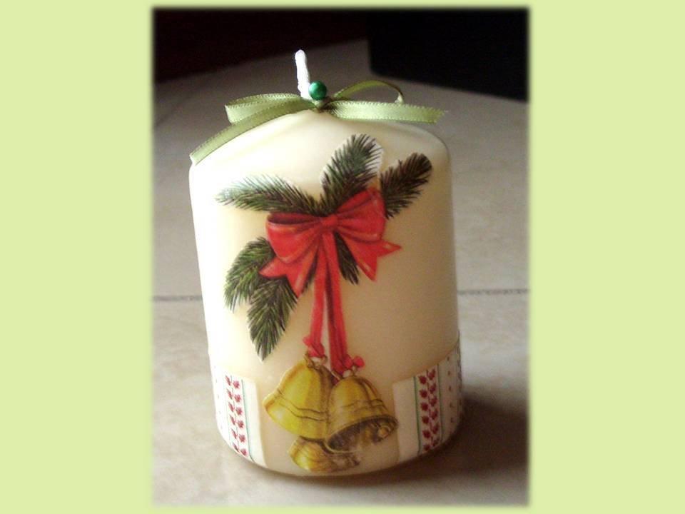Candele natalizie Campana Regalo di Natale