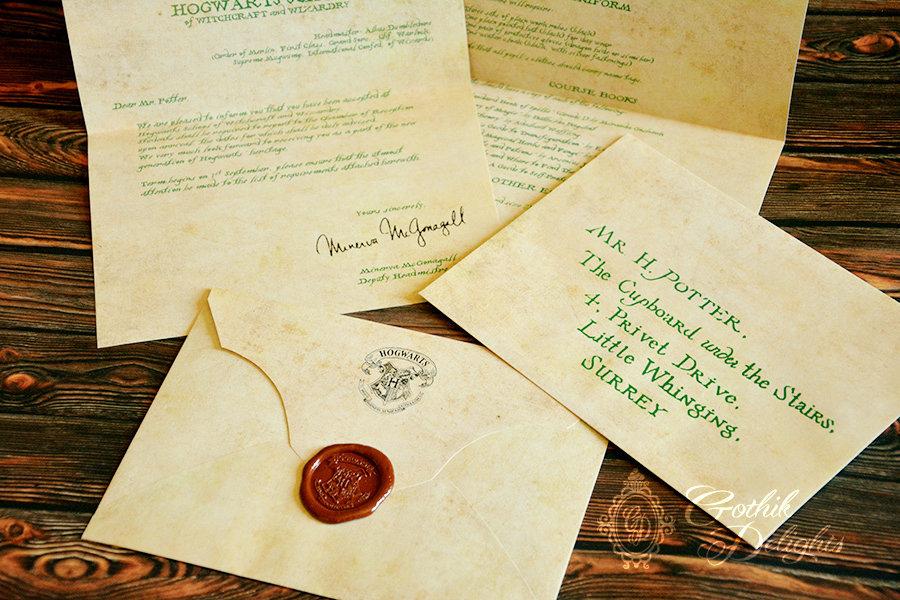 Lettera d'ammissione a Hogwarts TERZO ANNO, di Harry Potter o personalizzata! Con permesso di Hogsmeade