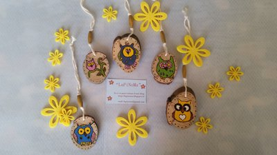 GUFETTI decorativi in legno di Pino
