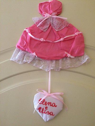 Fiocco nascita principessa romantica fuoriporta cameretta bimba rosa