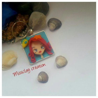 Portachiavi in fimo Ariel
