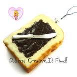 Portachiavi  Squishy Fetta di pane Con cioccolato - Nutella