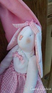 Fiocco nascita rosa coniglietto