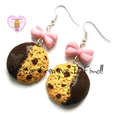 Orecchini Cookie - biscotti al cioccolato - handmade cute kawaii