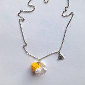 Collana lunga con boccino d'oro di Harry Potter amigurumi, fatto a mano all'uncinetto