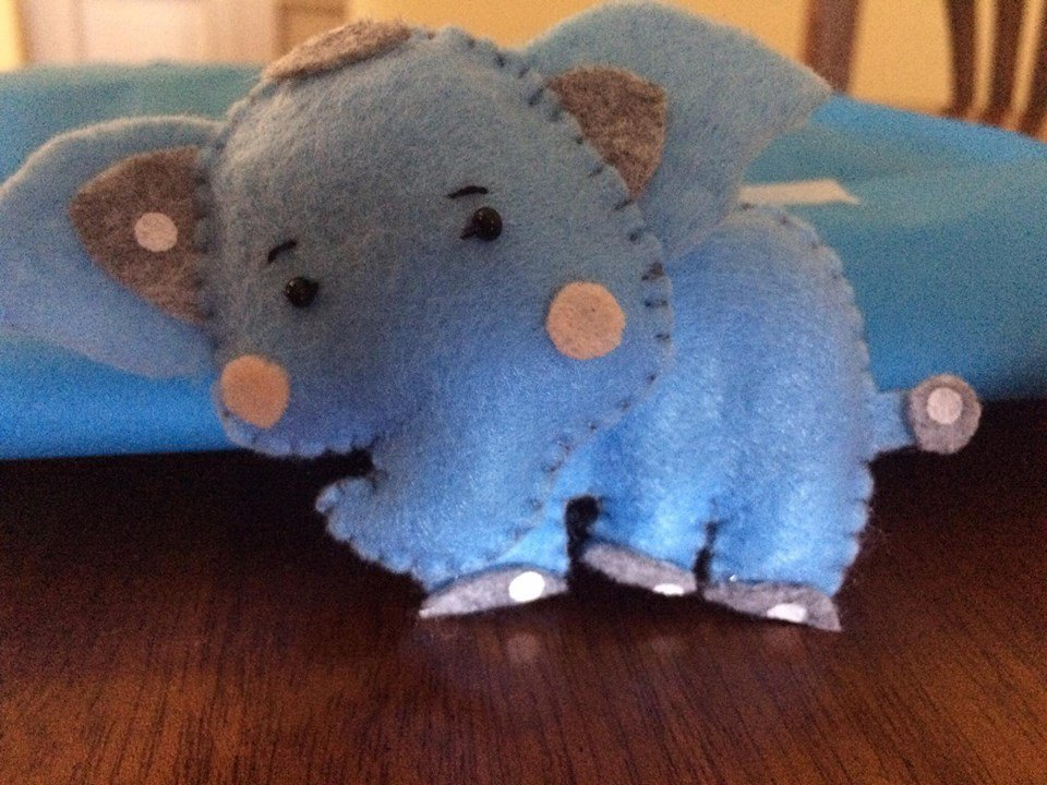 bomboniera animaletti in pannolenci realizzati a mano