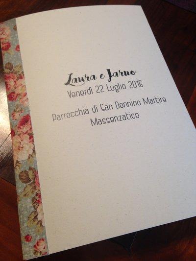 Libretto messa country boho chic