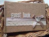 Guest book country shabby chic - medio