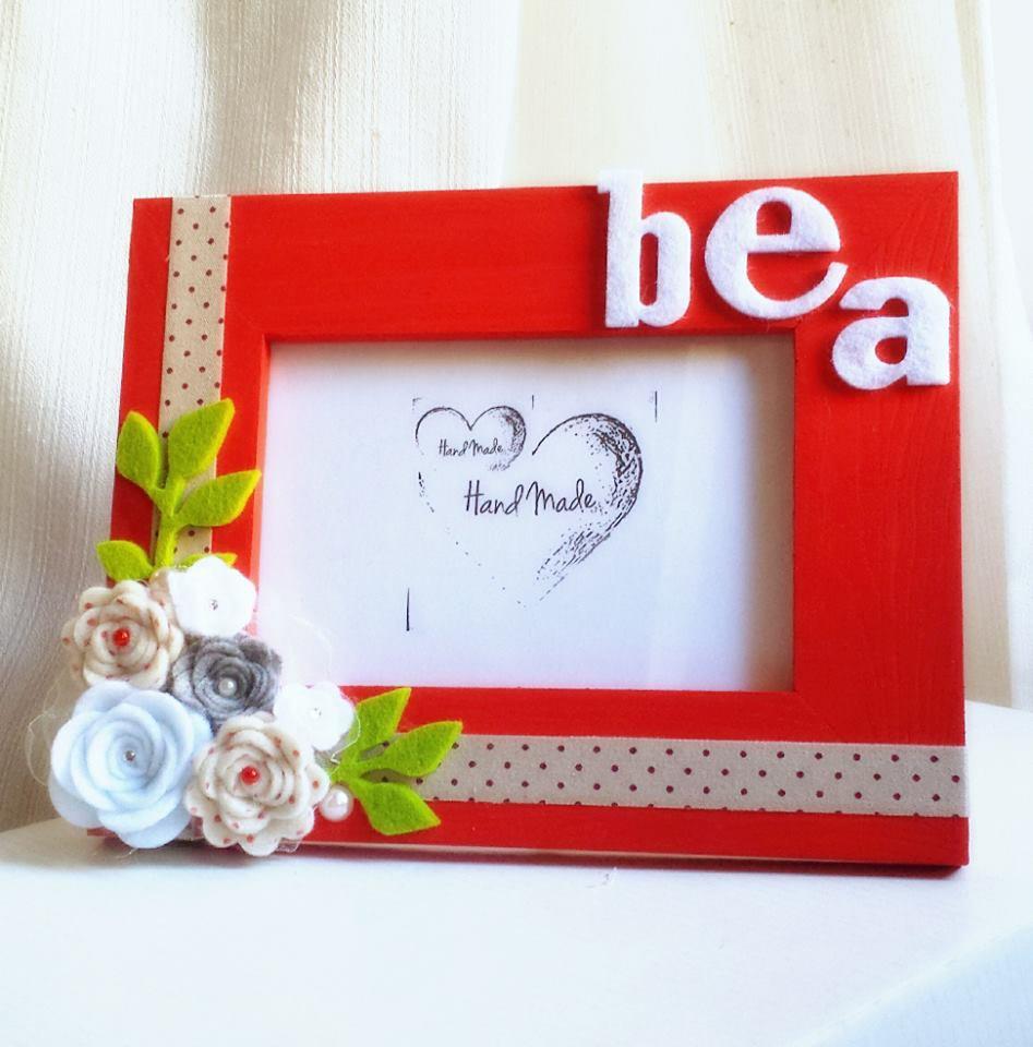 Cornice Personalizzata con decorazioni in feltro