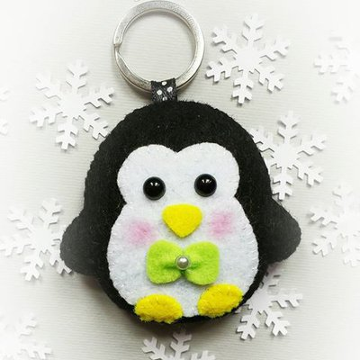 Portachiavi Pinguino in feltro