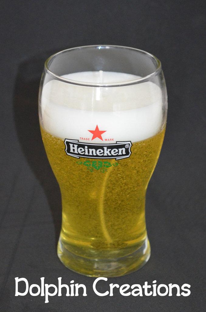 """Candela profumata birra """"Heineken"""""""