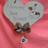 "CUORE  "" I LOVE MY JACK RUSSELL"" SHABBY SCHIC"