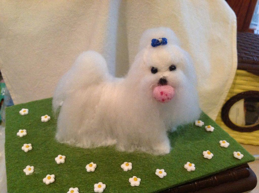 Riproduzioni cagnolini in  lana cardata
