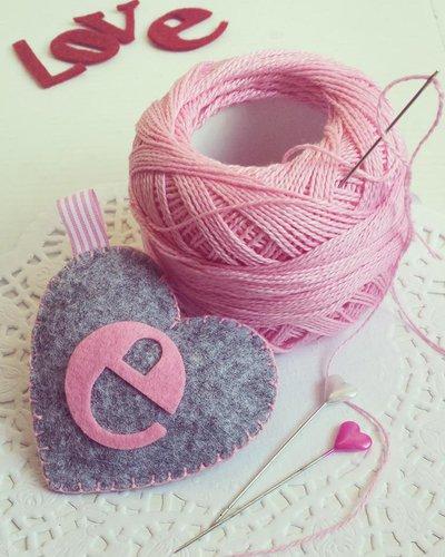 Portachiavi Iniziale del cuore